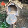Birdfeeder open - wood sculpture & garden art