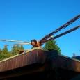 Giant dragonfly - wood sculpture & garden art