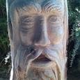 Old Man Of The Woods sculpture - wood sculpture & garden art