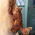 Squirrel carving - wood sculpture & garden art