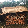Rustic wood store - wood sculpture & garden art