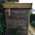 Green roof shed - side view