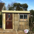 Green roof shed almost complete
