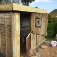 Shed with stable door