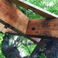 Tree house floor frame