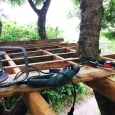 Tree house platform frame