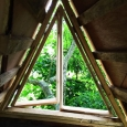 Tree house window frame