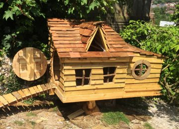 Chicken house with chicken run in Brighton garden