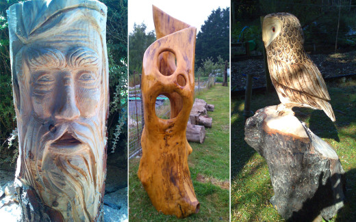 Wood Sculpture & Garden Art
